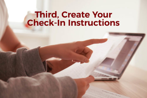 Create Your Check-In Instructions